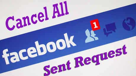 Cancel all facebook sent request